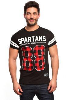 Spartans History 반소매 T셔츠 롤업 슬리브 체크 00흑/10013675맨즈/꽃무늬