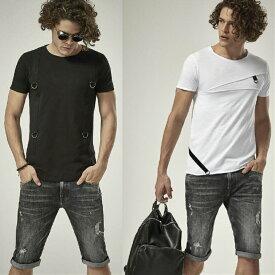 デニム ショーツ ハーフパンツ ストレッチ スキニー タイト 細身ダメージ クラッシュ 黒/ブルー 半ズボン メンズ 31〜38インチ 大きいサイズも入荷