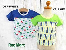 SALE!30%OFF!!2019春夏 RAG MART ラグマート 夏デザイン切替Tシャツ:100cm,110cm,120cm,130cm:2195602