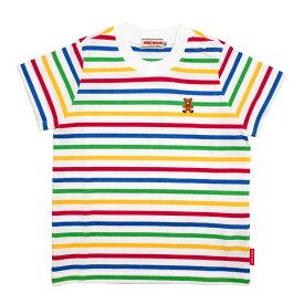 春夏 MIKIHOUSE ミキハウス ボーダー半袖Tシャツ(80・90・100・110・120cm)12-5219-956
