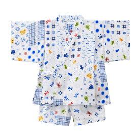 MIKIHOUSE  ミキハウス パッチワーク柄プッチー甚平スーツ:80cm,90cm:12-7511-788a
