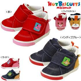 MIKIHOUSE HOTBISCUITS ミキハウス ホットビスケッツ 360゜かわいい!!セカンドベビーシューズ :13cm〜14.5cm : 73-9302-950