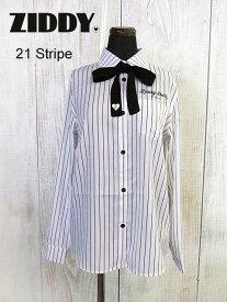 2020春夏 ZIDDY ジディ リボン付シャツ:140cm〜150cm、FREE :1226-20508