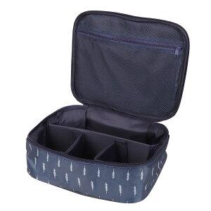 メイクボックス 旅行用化粧ケース コスメ バッグ ボックス トラベル化粧ポーチ メイクブラシ 小物入れ 収納 Bタイプ ブラック チベット羽