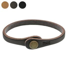 Binich(ビニッチ) ブラス コンチョ レザー ブレスレット アクセサリー ブレスレット メンズ 本革 編み込み
