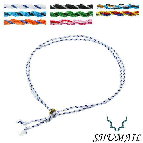 【シュメール】カラー ストライプ コード アンクレット(全8色) ブランド:SHUMAIL アクセサリー アンクレット メンズ レディース ペア
