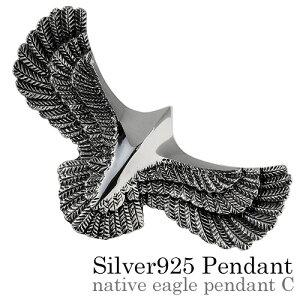 \割引クーポン/Binich(ビニッチ) ネイティブイーグルペンダントC ネックレス メンズ (3.5mmアズキチェーン割引セット) インディアンジュエリー系 シルバー925 アクセサリー[シルバーペンダン