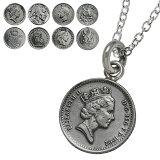 アンティークコインペンダント(トップのみ)本物の硬貨硬貨[シルバーペンダント]