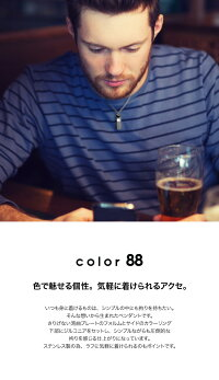 【color88】ジルコニアスティックカラーペンダント【メンズタイプ】ケース&チェーン付きネックレス