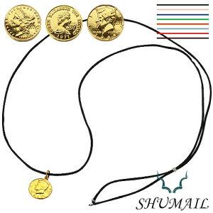 \9月20日限定!全品P10倍/SHUMAIL(シュメール) ゴールドコインペンダント/カラーコード ブランド アクセサリー ペンダント ネックレス メンズ ブラス[真鍮]