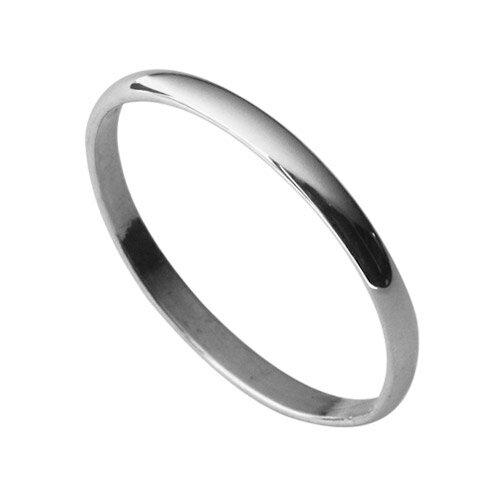 Binich(ビニッチ) 【2mm幅】シンプル甲丸リング メンズ レディース 指輪 シルバー アクセサリー ペアリングにもお薦め[シルバーリング]
