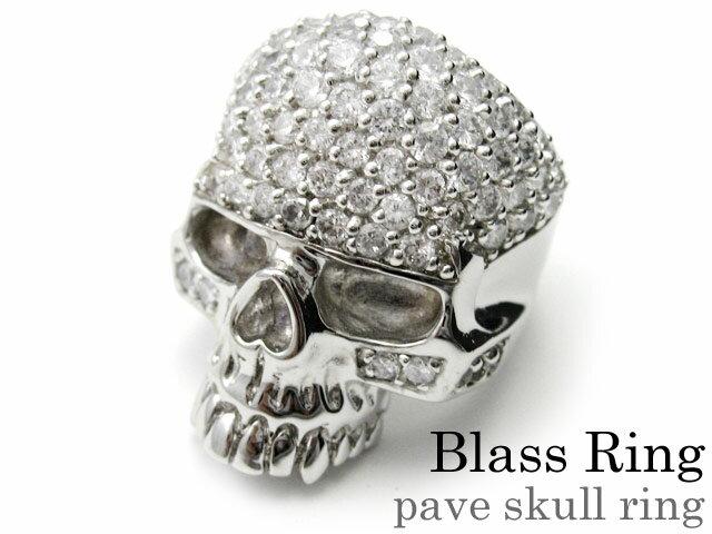 【割引クーポン配布】Binich(ビニッチ) パヴェスカルリング メンズ 指輪 メンズ ジルコニア ブラス[真鍮]