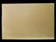本革風ワニ柄ポケット付きB5ノートカバー(クロコシャンパンゴールド)クロコダイルシボ模様