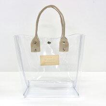 PVCプチトートバッグ透明クリアレディースメンズ日本製【送料無料】