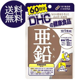 【メール便/送料無料】DHC 亜鉛 60日分 60粒