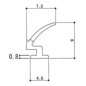 三協アルミ 補修部品 気密材ゴムパッキン WD0348浴室ドア 勝手口ドア用