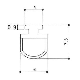 三協アルミ 補修部品 気密材 ゴムパッキン3k2307 KC