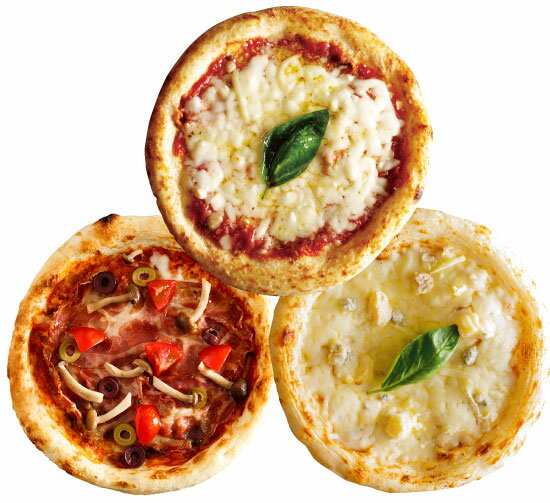 【ナポリ風ピザ】「選べるピザ3枚セット」天然酵母・有機小麦粉使用ピッツァ【冷凍便】【母の日】