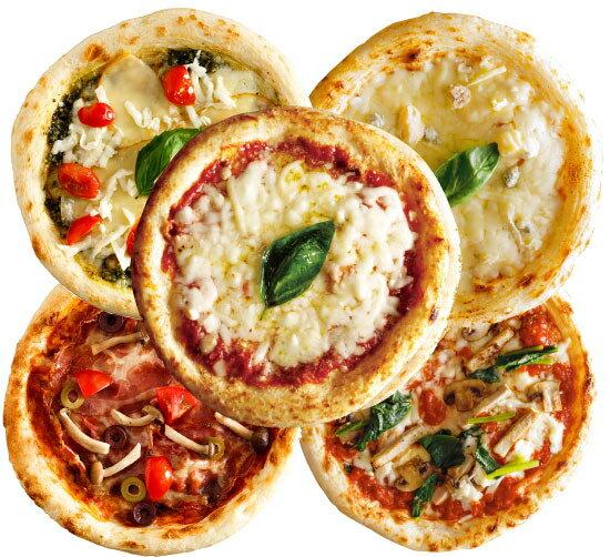 【ナポリ風ピザ】「選べるピザ5枚セット」天然酵母・有機小麦粉使用ピッツァ【冷凍便】【母の日】