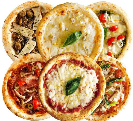 【ナポリ風ピザ】「選べるピザ6枚セット」天然酵母・有機小麦粉使用ピッツァ【冷凍便】【母の日】