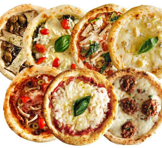 【送料無料】【ナポリ風ピザ】「選べるピザ7枚セット」天然酵母・有機小麦粉使用ピッツァ【冷凍便】【母の日】