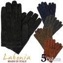 Labonia ≪ラボニア≫ by LAB GLOVES NAPLES ≪ラブグローブス≫ イタリア製 ラムスエードレザーグローブ メンズ 革…