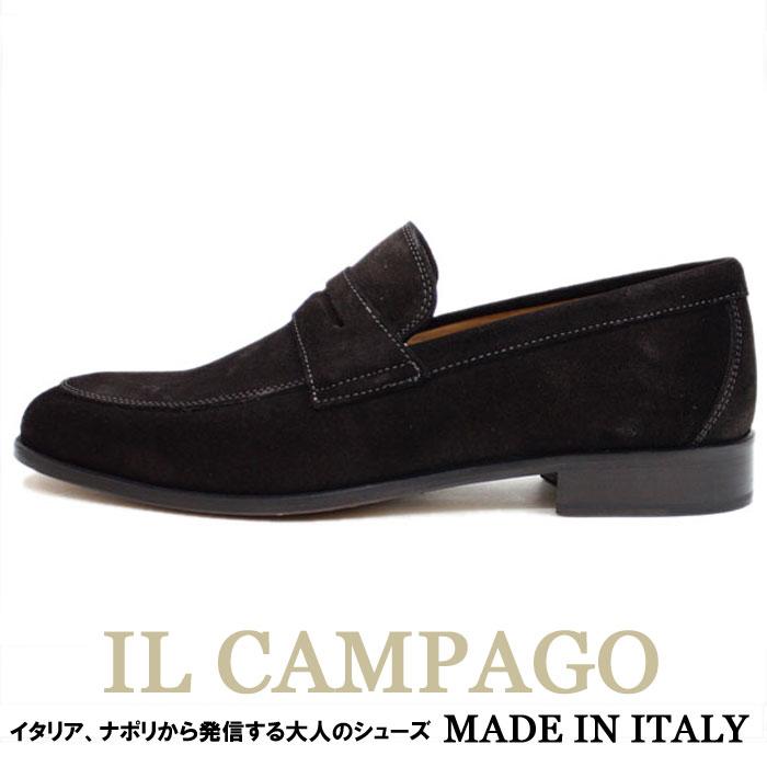 IL CAMPAGO ≪イルカンパゴ≫ イタリアブランド イタリア製 スエード ローファー スリッポンシューズ メンズ レザーシューズ ≪