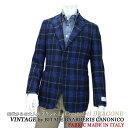 シルク&ウール ジャケット メンズ イタリア製生地 VITALE BARBERIS CANONICO ≪カノニコ≫ Vintage ≪ヴィンテージ≫ドメスティックブランド La cresta del