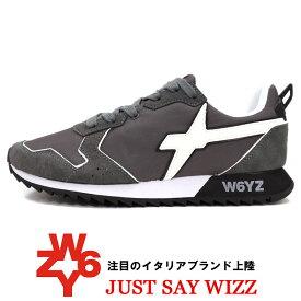 W6YZ ≪ウィズ≫ JUST SAY WIZZ ≪ジャストセイウィズ≫ イタリアブランド スニーカー メンズ ≪スエード x ナイロン スニーカー グレー≫【送料無料】25000womk