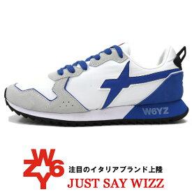 W6YZ ≪ウィズ≫ JUST SAY WIZZ ≪ジャストセイウィズ≫ イタリアブランド スニーカー メンズ ≪スエード x ナイロン スニーカー 白 ホワイト≫【送料無料】25000womk