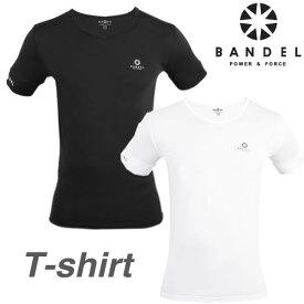 【最大20倍ポイントUP中】バンデル VネックTシャツ(メール便送料無料)【正規販売店】BANDEL v-neck t-shirt スリム メンズ レディース 半袖 アンダーウェア アンダーシャツ