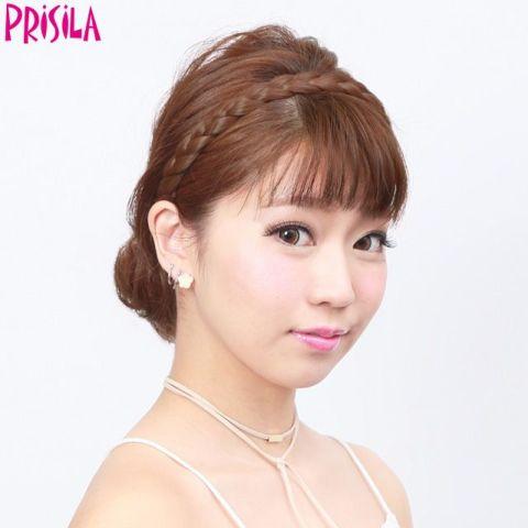 カチューシャ【みつあみバンド PG-01】(PRISILA プリシラ)つけ毛 ウイッグ エクステ かつら