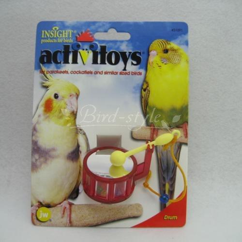 【JW Pet Company】バードトイ/ドラム