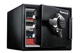 Sentry 耐火・耐水金庫(2時間耐火) テンキー式 鍵2本付き 容量約22.8L ブラック JTW082GEL