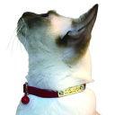 【BIRDIE(バーディ)猫用迷子防止首輪】名前と電話番号を刻印してお届けする CAT IDカラー(バックル外れるタイプ)