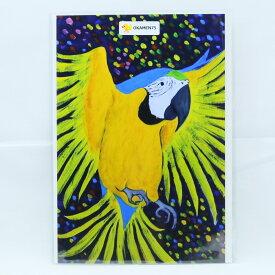 """【OKAMEN75】インコ臭ポストカード・秘密の森のコンゴウインコ/ルリコンゴウ/173A0103 """" ネコポス 対応可能 """" ( BIRDMORE バードモア 鳥用品 鳥グッズ 鳥 とり プレゼント )"""