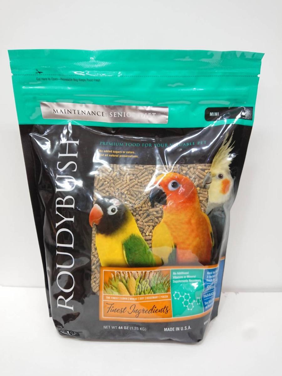 ラウディブッシュ / シニア ダイエット ( ミニ ) 1.25kg 推奨使用期限 2020年4月19日 ( BIRDMORE バードモア 老鳥 幼鳥 シニア ご飯 餌 えさ エサ )