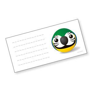 いんこ屋堂 / 一筆箋 ルリコンゴウインコ玉/054A0239 ネコポス 対応可能 ( BIRDMORE バードモア CRAFT GARDEN 鳥グッズ 鳥用品 雑貨 鳥 バード プレゼント )