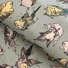 アトリエRumiYumi /カットクロス 水浴びインコズ(ミントブルー) / 232A0960  BIRDMORE バードモア CRAFT GARDEN 鳥用品 鳥グッズ 雑貨 カバン バッグ グッズ 鳥 とり トリ インコ プレゼント