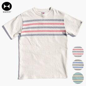 【送料無料】マックアイ メンズ Tシャツ MACEYE 762802 TASUKI Heavy Weight Panel Border Tee ヘビーウェイト パネル ボーダー Tシャツ 日本製 MAID IN JAPAN シンプル 襷掛け 丈夫 オリジナル