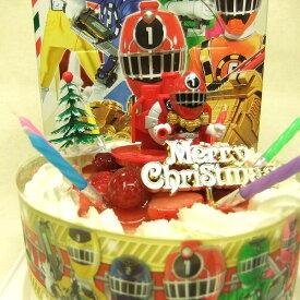 【クリスマス限定2014】旧作:列車戦隊トッキュウジャー5号(お誕生日用に変更)/4種類のケーキからお選びください/バンダイキャラデコ