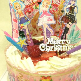【クリスマス限定2014】旧作:アイカツ!スターナイトメロディーステージ5号/4種類のケーキからお選びください/バンダイキャラデコ