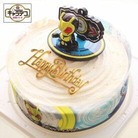ボンブ(ドーム型)ケーキ/仮面ライダーゼロワン・キャラデコ ケーキ5号/バースデーオーナメントとキャンドル小1袋6本付き/バースデーケーキ