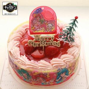 クリスマス・スター☆トゥインクルプリキュア2019▼ピンク色の生クリーム苺・キャラデコクリスマスケーキ/スターカラーペン こいぬ座 付き