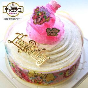 ボンブ(ドーム型)ケーキ/ヒーリングっど・プリキュア2020・キャラデコ ケーキ5号/バースデーオーナメントとキャンドル小1袋6本付き/(お面とバルーンは付いておりません)/ポストカード無料