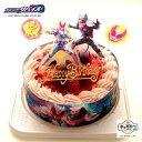 キャラデコパーティー ケーキ 仮面ライダー リバイス ピンク色生クリーム 苺 サンドケーキ バースデーケーキ (バース…