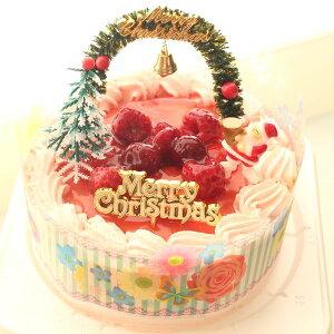 【クリスマスケーキ】デコレーションケーキ5号/直径15cm/高さ約8cm/4名様から6名様用◆4種類のケーキからお選びください/クリスマス飾り付き/北海道純生クリーム100%/北海道小麦粉