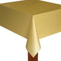 ビニール製テーブルカバー(薄手)ゴールド金色
