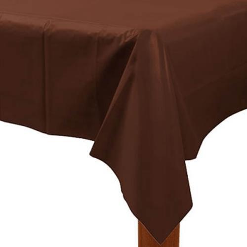 ビニール製テーブルカバー(薄手) 茶色 チョコレートブラウン【テーブルカバー・テーブルクロス】お誕生日 パーティー テーブルコーディネイト テーブルウエア