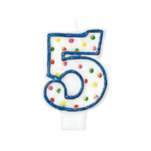ドットナンバーキャンドル No.5 数字【5歳のお誕生日に】 【バースデーキャンドル】【お誕生日・バースデー】 【パーティーキャンドル】